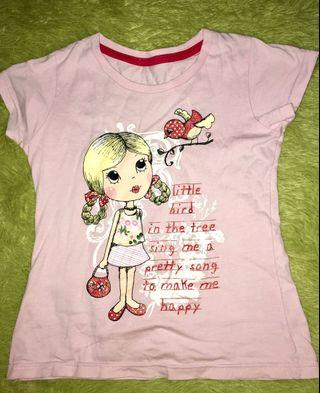 Glitter prints pink cotton t-shirt