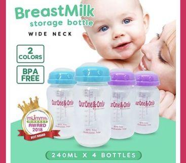 Our One and Only Breastmilk Storage bottle