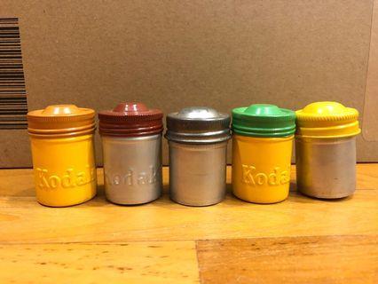 Kodak empty metal 35mm film canister can