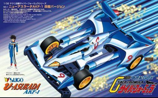全新 Techni 4WD Cyber Formula Box Set 四驅車 高智能方程式 青島 Aoishima 雷神 Asurada