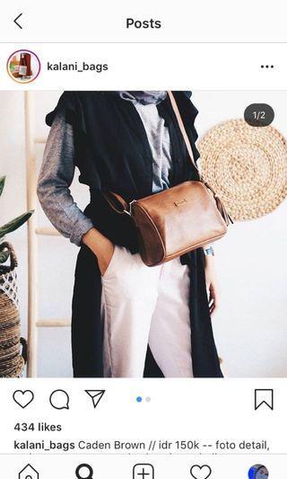 tas wanita coklat - sling bag coklat - kalani bags