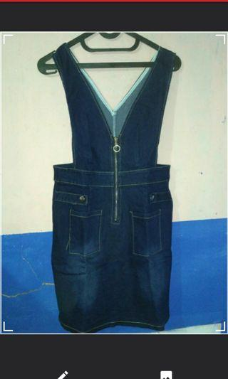 Overall rok jeans #maugopay