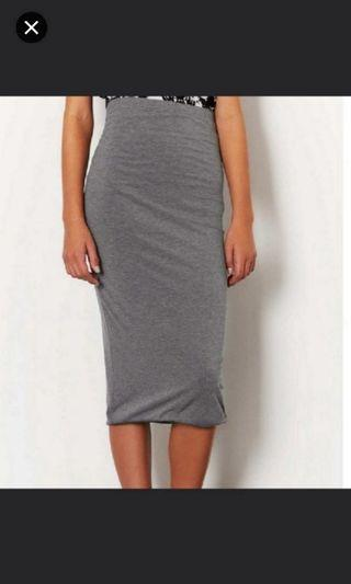 Topshop Tall Double Layer Tube Skirt