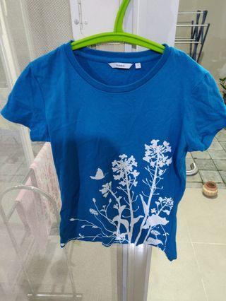 Kaos biru t-shirt blue
