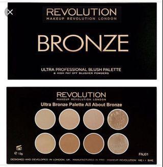 Makeup Revolution Bronze Palette
