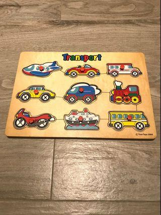 Transport Wooden Puzzle