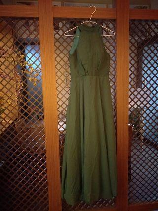 墨綠色禮服