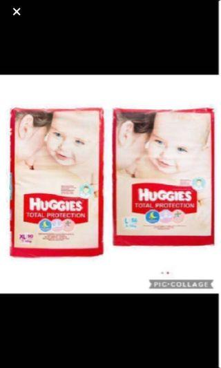 FLASHSALE: Huggies Total Protection Diapers