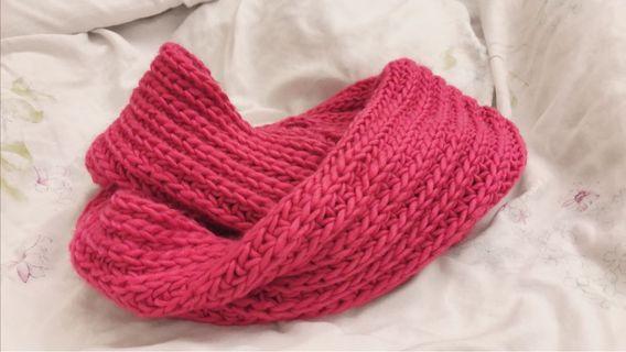 🚚 NET針織圍巾-粉紅色
