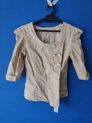 Colorful button designer blazer