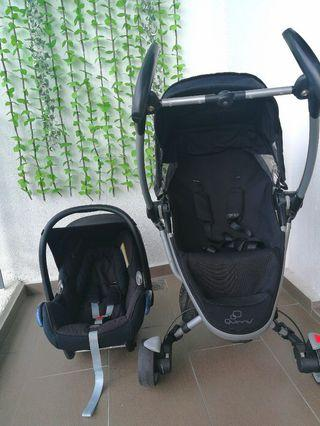 PRELOVED Quinny Zapp Xtra & Maxicosi baby carrier/car seat