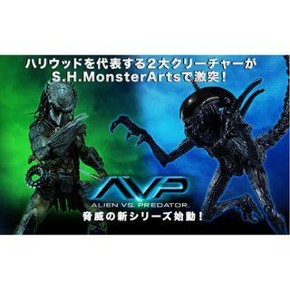 全新 魂限  S.H.MonsterArts SHM Alien Warrior vs Predator Wolf HEAVY ARMED VER  異形 vs 鐵血戰士 血獸 AVP