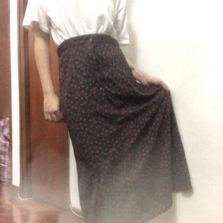🍒CHERRY PRINT SKIRT 黑包波點半身裙