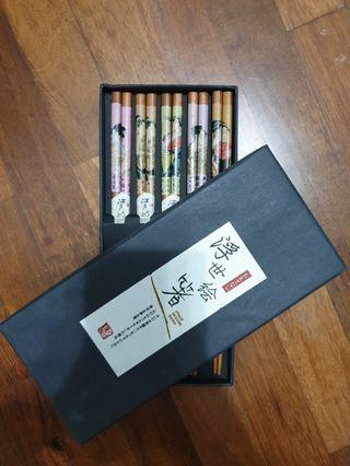 [NEW]  Collection or use Japan art chopstick ( 5pairs)