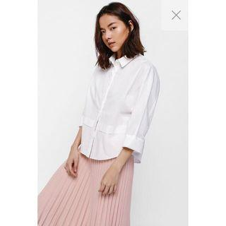 Love Bonito Ergie Button Front Layered Panel Shirt