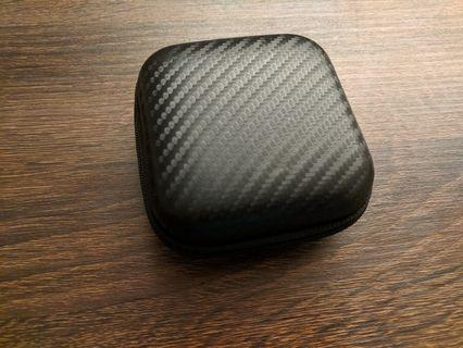 Large Carbon Fiber Pattern Earphone Case