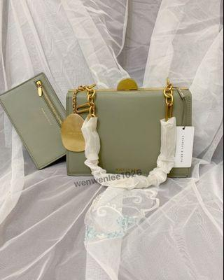 小ck抹茶綠金屬包包
