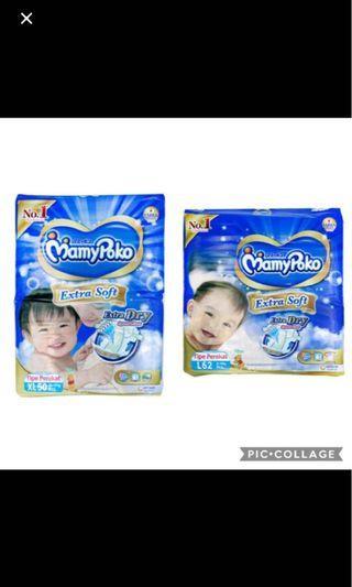 🚚 FLASHSALE: Mamypoko Extra Dry Tape Diapers (minimum 6 packs)