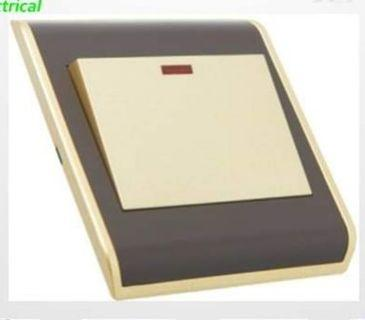 Gold frame Switch and socket