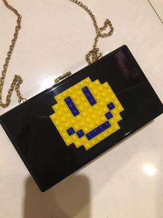 Smiley pouch acrylic bag
