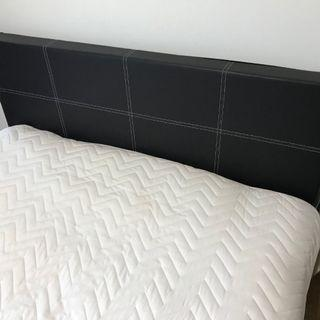 Lightly used Queen size mattress and frame with mattress pad