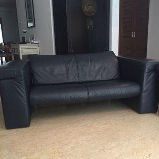 Comfortable 3 + 2 Seater Genuine Leather Sofa Couch