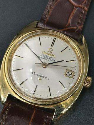 Omega 168.017 自動上弦金套星座日曆手錶