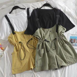 [PO] summer style top and strap shorts set