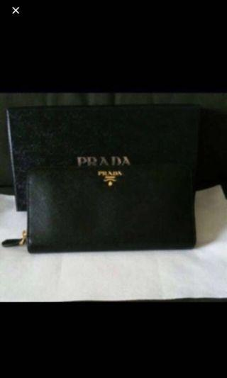 🚚 Prada Saffiano Long Leather Wallet