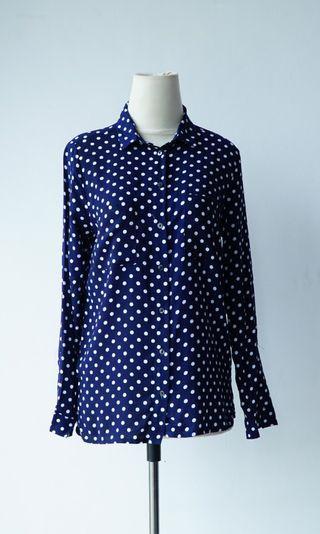 H&M Polkadot Navy Shirt Original and New