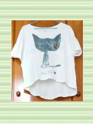 白色貓貓衫