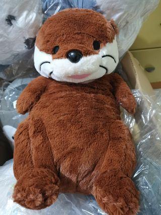 棕色水獺 大隻毛公仔 全新現貨 日本正版景品 夾公仔 toreba itachi's wonderland okojo otter
