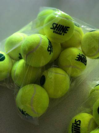 """Tennis Balls """"Shine"""" stage 1 for practice"""