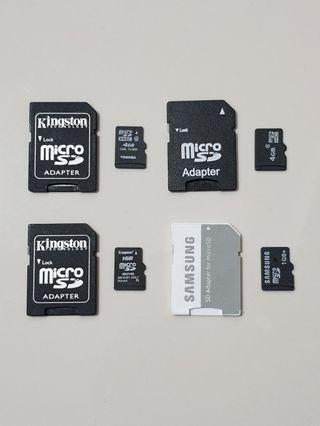 Micro SD Card with Adapter (2×4GB & 2×1GB)
