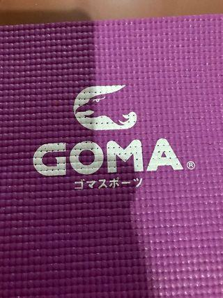 Yoga mat (Goma) with shoulder string, easy to carry