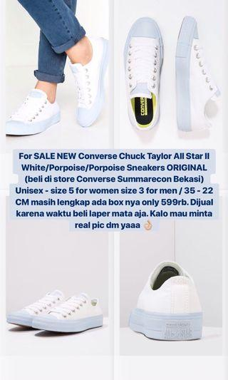 Converse All Star Chuck Taylor II White Blue Paster size 35 (22 cm) UNISEX
