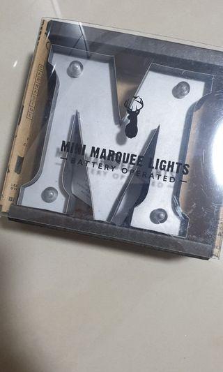 Typo mini marquee lights 'M'