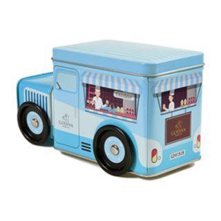GODIVA Chocolate 藍色小貨車巧克力鐵盒