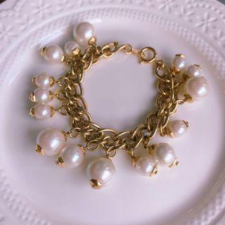古董飾品。纍纍果實珍珠手鍊