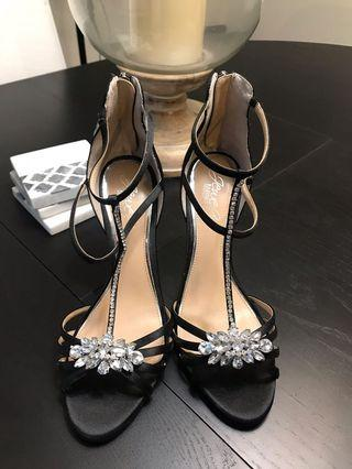 New Badgley Miscka Black Heels Size 8