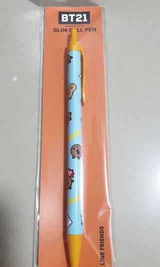 🚚 BT21 Shooky Slim Ball Pen