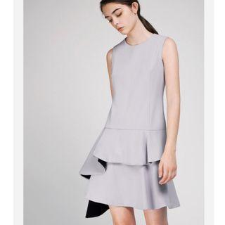 BNWT Saturday club Shift Dress With Cascading Layered Hem Size M