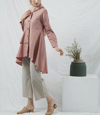 Dress Tunik Dusty Pink Hava