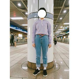 PAZZO太空棉短版帽T(淡紫)