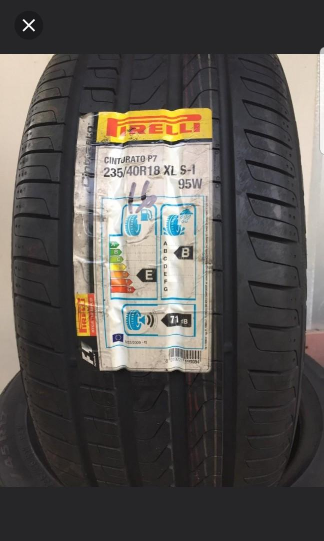 2 pcs pirelli 235 40 18 (new tyre) 1 pcs $120 ...Dom 2016