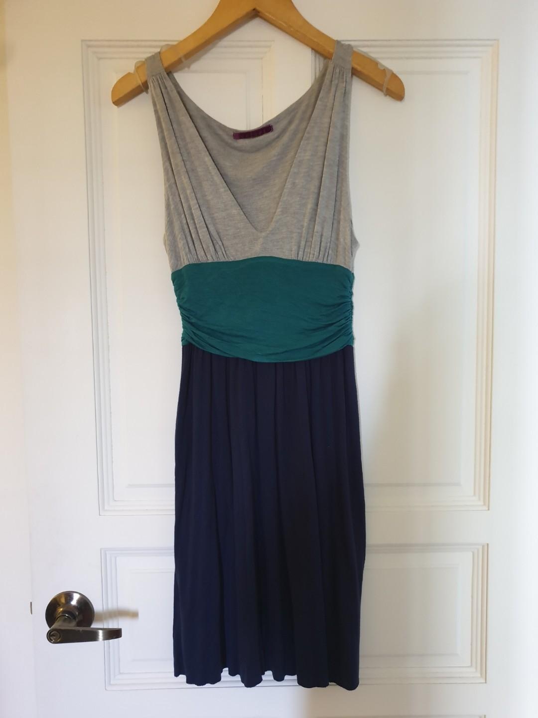 Anthropologie velvet brand jersey dress