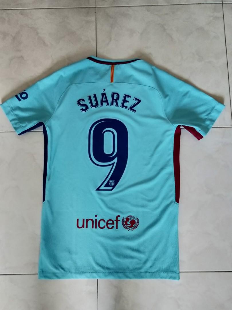 finest selection 4f1e5 f2327 Authentic Aeroswift Nike Barcelona 2017/2018 Football Away Jersey with  Suarez 9 print