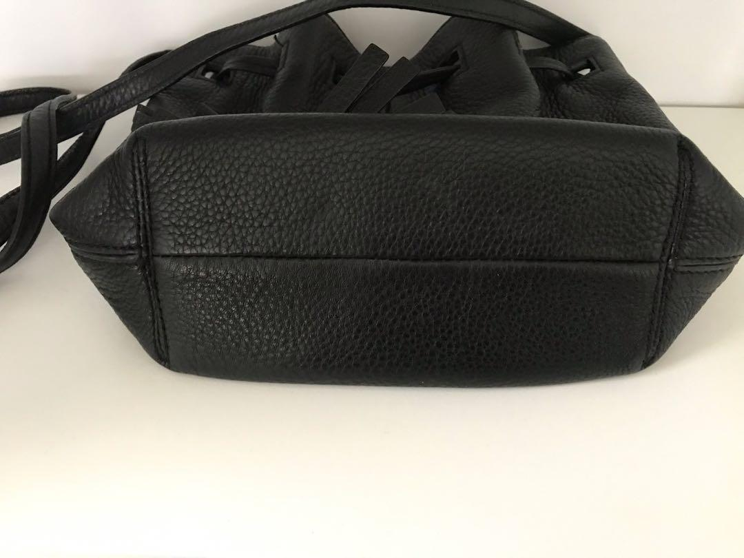Authentic Kate Spade bucket bag with black leather