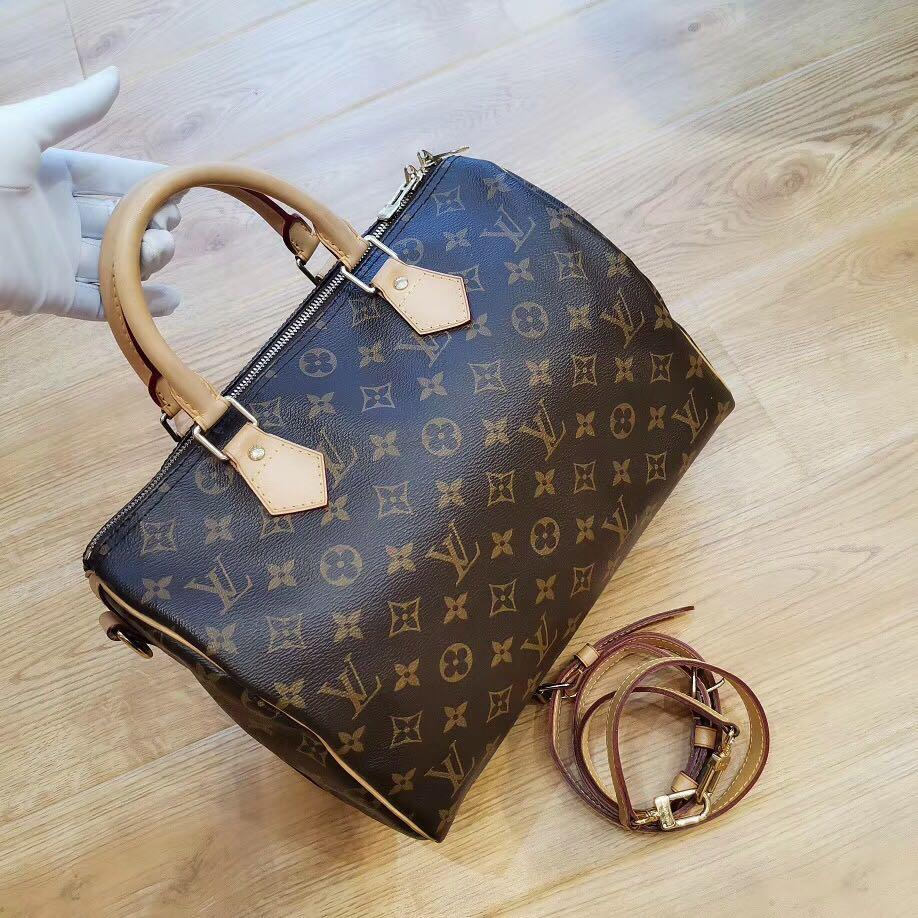 Authentic Pre-loved Louis Vuitton Speedy 30 Bandoulière Monogram Canvas