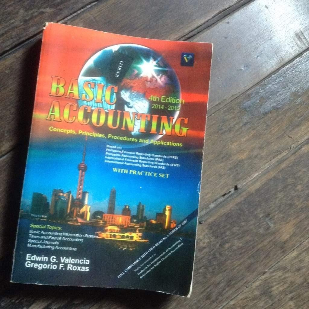 Basic Accounting 2014-2015 ( 4th edition) Author: Edwin G. Valencia and Gregorio F. Roxas